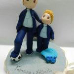 cake topper cresima personalizzato padrino