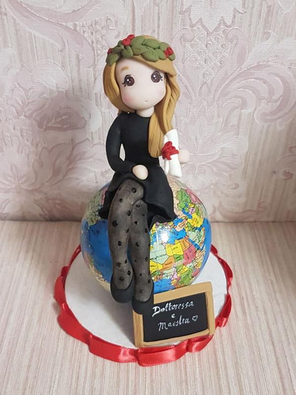cake topper personalizzato laurea lettere