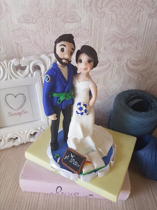cake topper sposi sportivi karate judo