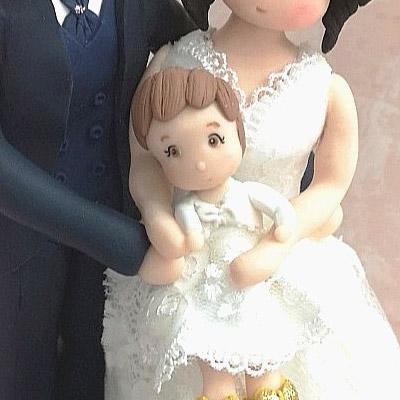 cake topper sposi stilizzati bambina