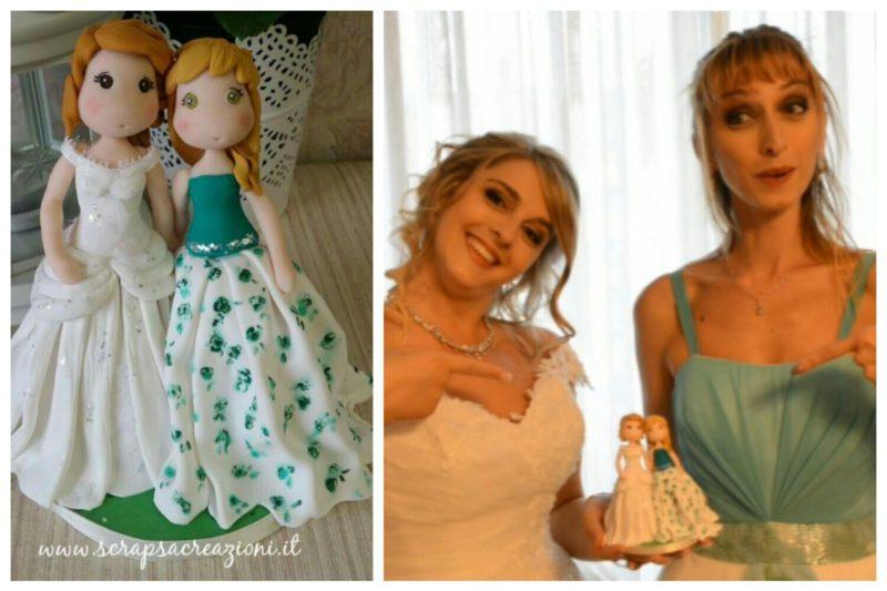 cake topper matrimonio verde