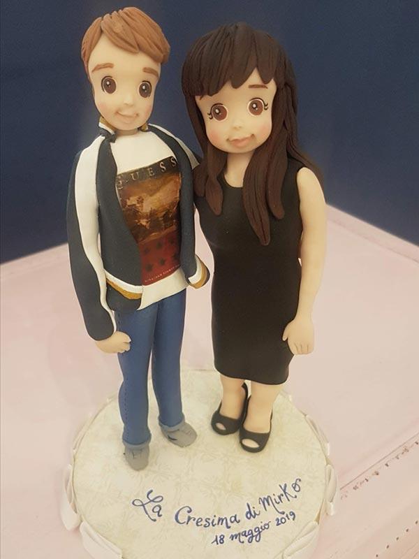 cake topper personalizzato cresima con madrina