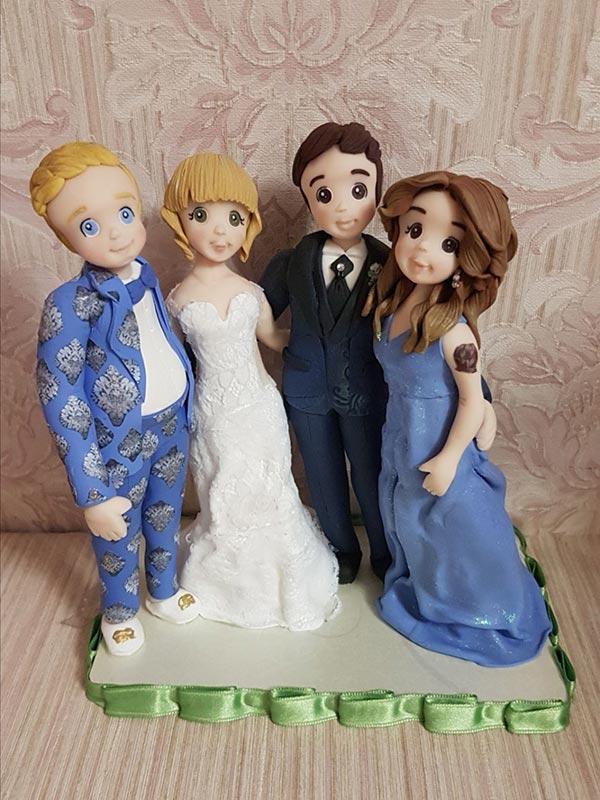cake topper personalizzato regalo testimoni nozze