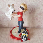 cake topper cane compleanno
