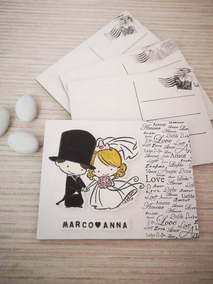 cartolina segnaposto matrimonio shabby chic
