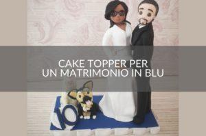 Cake topper matrimonio in blu