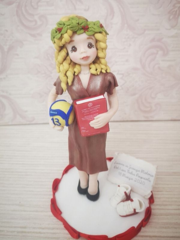 cake topper laurea sport