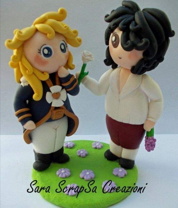 cake topper lady oscar cartone animato
