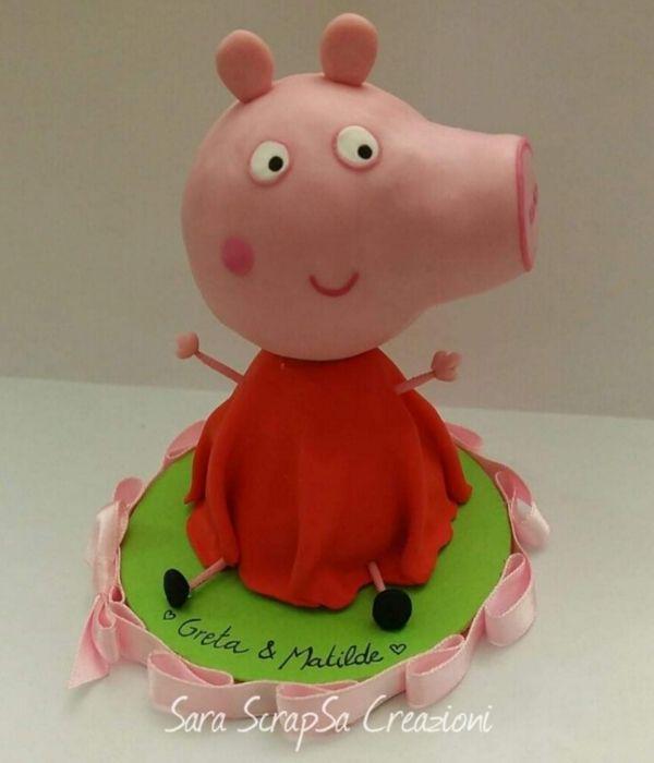 cake topper peppa pig cartone animato