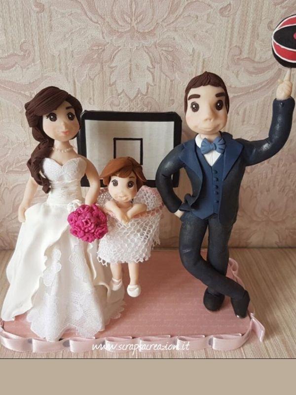 cake topper matrimonio spiritosi canestro