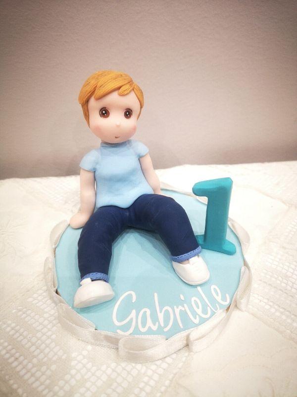 cake topper stilizzato primo compleanno