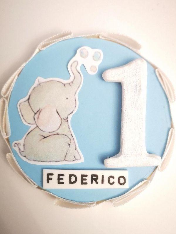 calamita primo compleanno elefantino