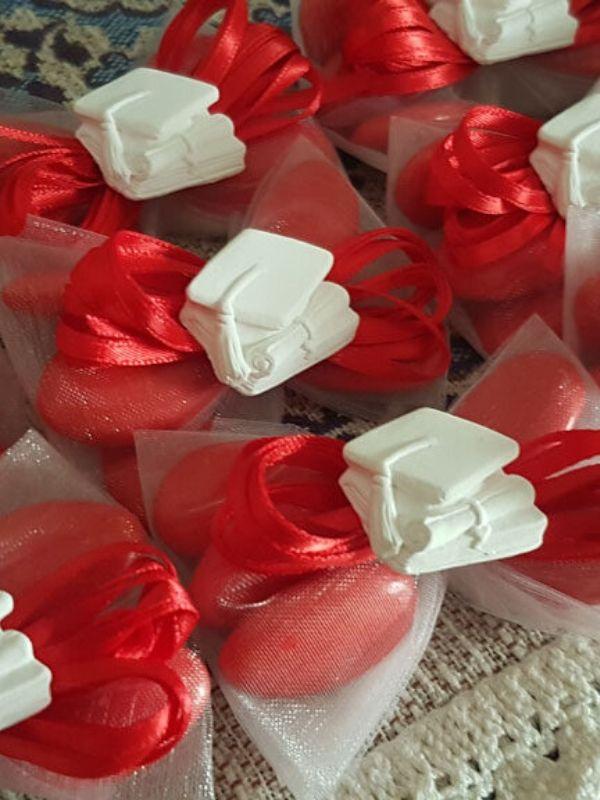sacchetti laurea con confetti