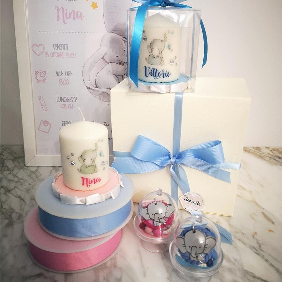 candele personalizzate bambino