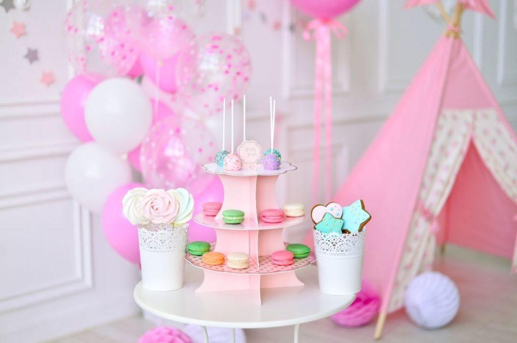 primo compleanno allestimento rosa