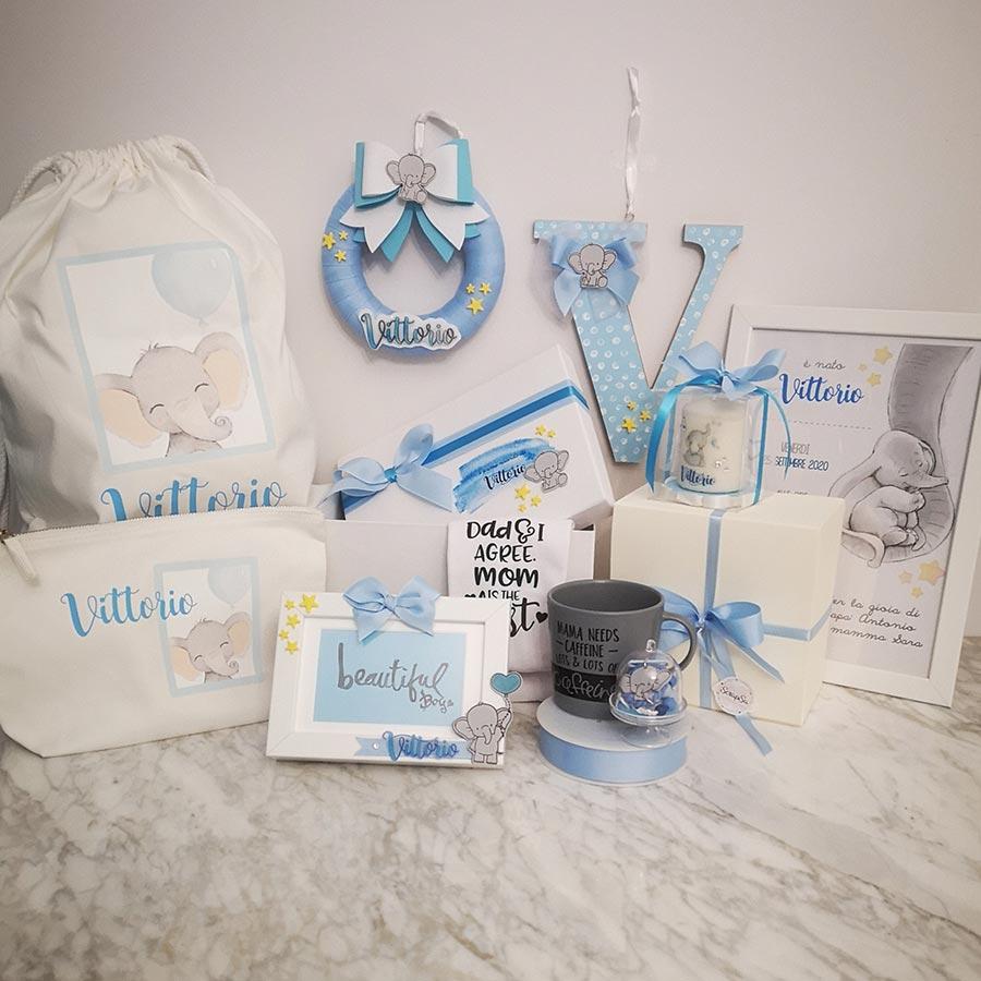 set nascita bambino personalizzato box dolce attesa