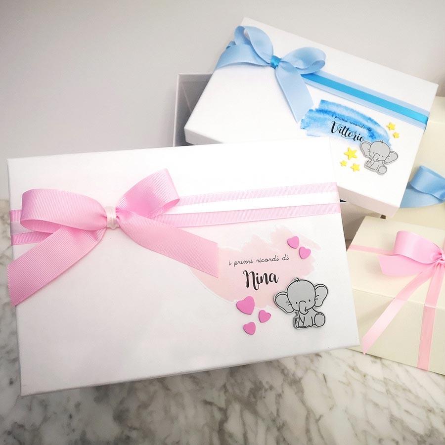 scatola dei ricordi neo mamma personalizzata