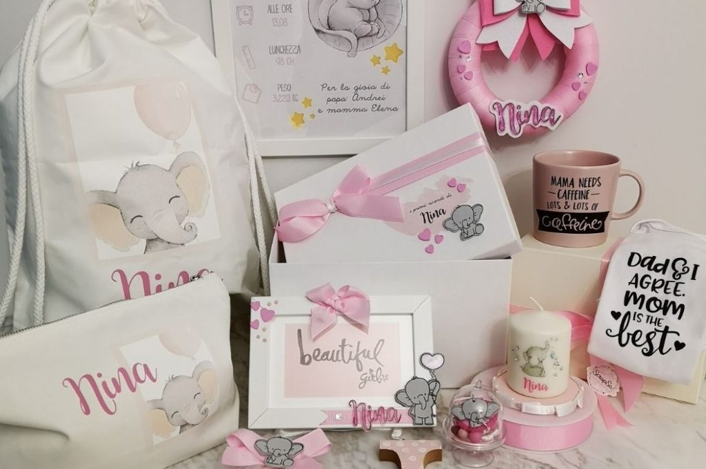 regali per neomamma rosa
