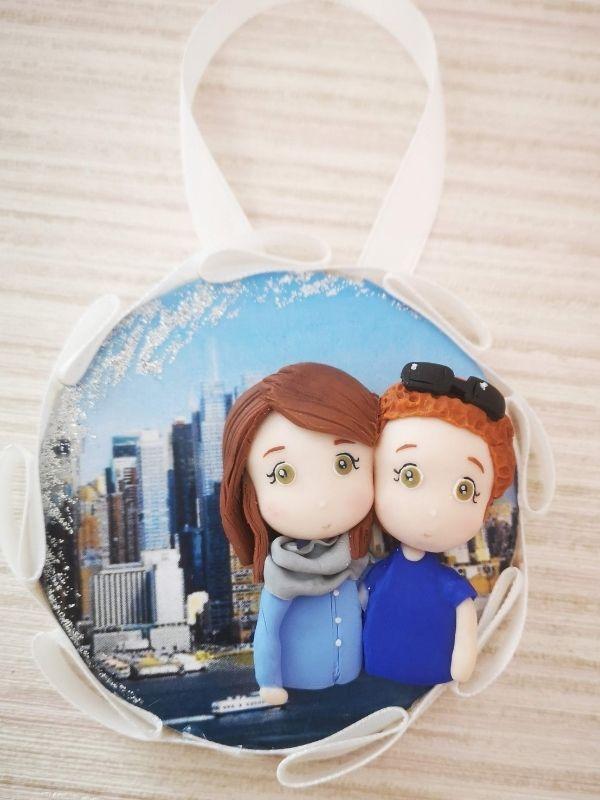 decorazione natalizia personalizzata con foto