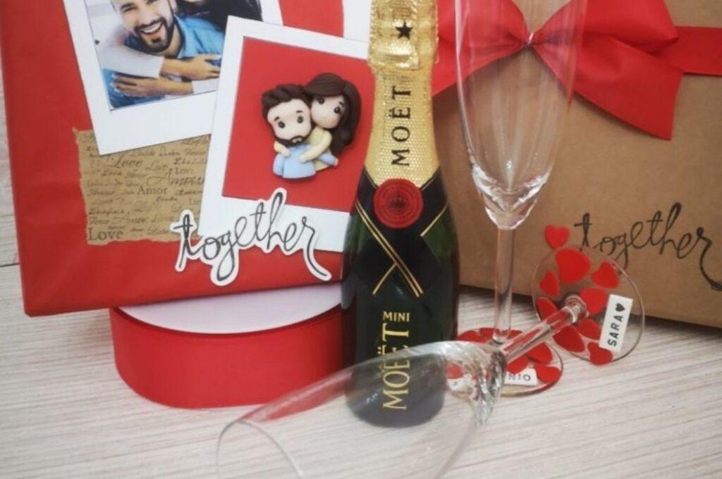 regalo san valentino per lui box champagne
