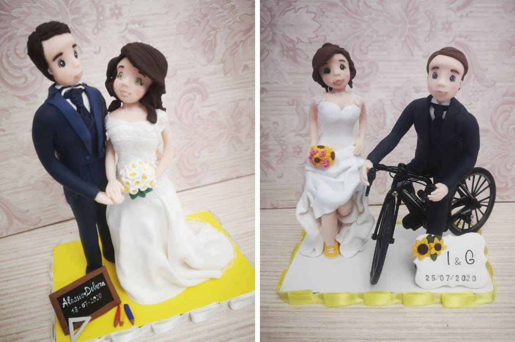 cake topper matrimonio giallo grigio pantone 2021