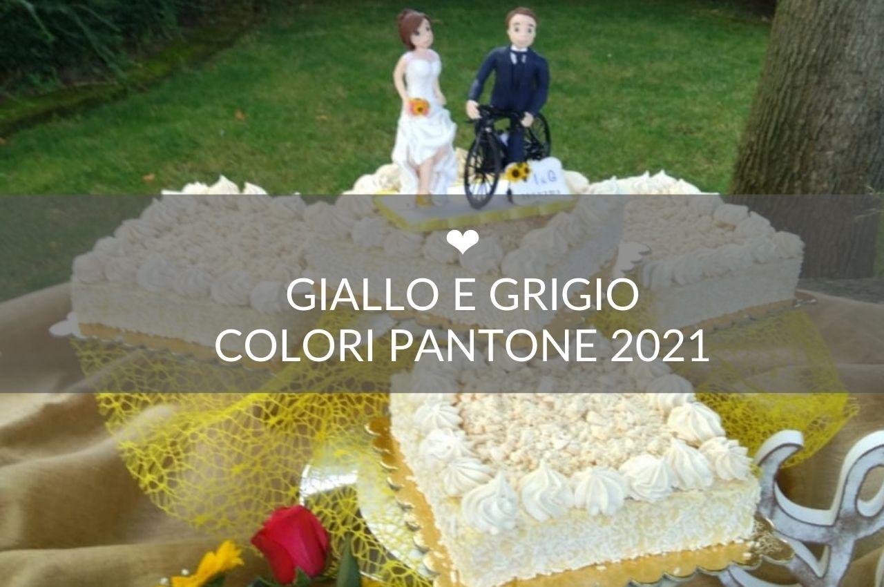 giallo grigio pantone 2021 matrimonio